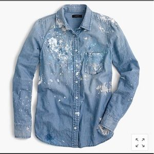 Women's J.Crew Paint Splattered Chambray Shirt